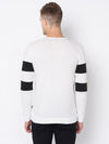 Rigo White Black Cut & Sew Full Sleeve T-shirt For Men