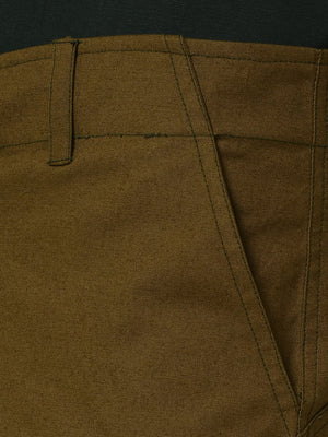 Rigo Olive Green Cut & Sew Detailing Woven Shorts for Men