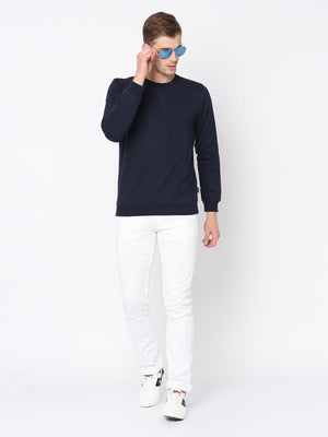 Rigo Navy Round Neck Sweatshirt For Men