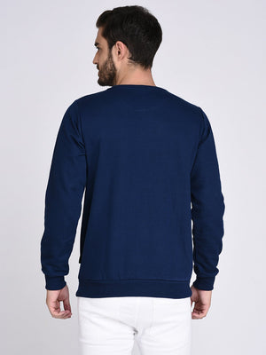 Rigo Blue Fleece Printed Sweatshirt-Full