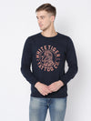 Rigo Navy Printed Sweatshirt For Men