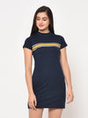 RIGO Navy Printed Bodycon Dress For Women