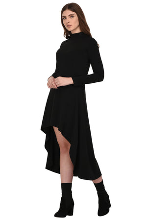 RIGO Black High Low Dress