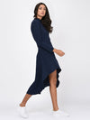 RIGO Navy Blue High Low Maxi Dress for Women