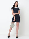 Rigo Navy Bodycon Dress For Women