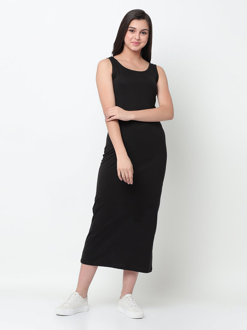 Rigo Black Maxi Dress For Women
