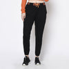 Rigo Women Black Printed Waist Band Cotton Fleece Jogger