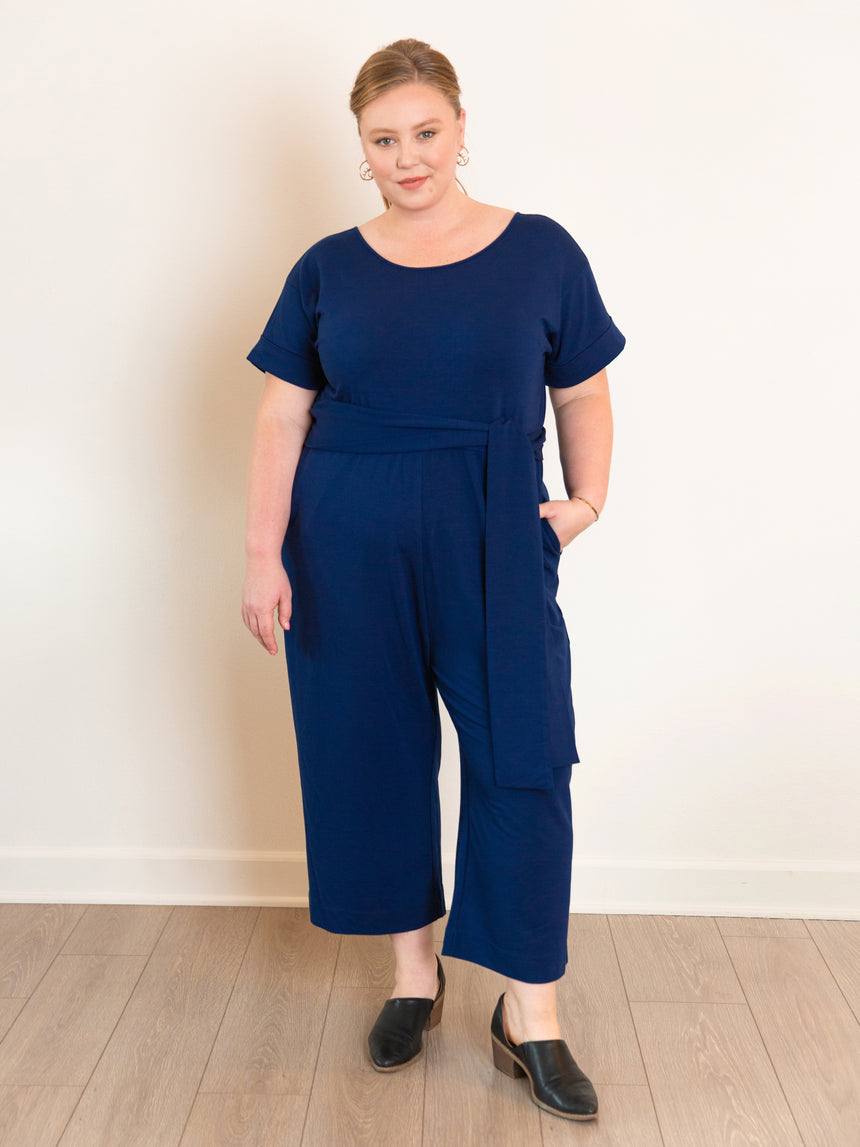 (Final Sale) The French Terry Jumpsuit - Ori Plus Size Online Boutique