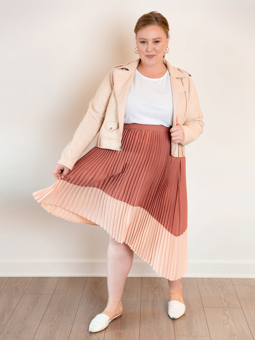 (Final Sale) The Pleated Midi Skirt - Ori Plus Size Online Boutique