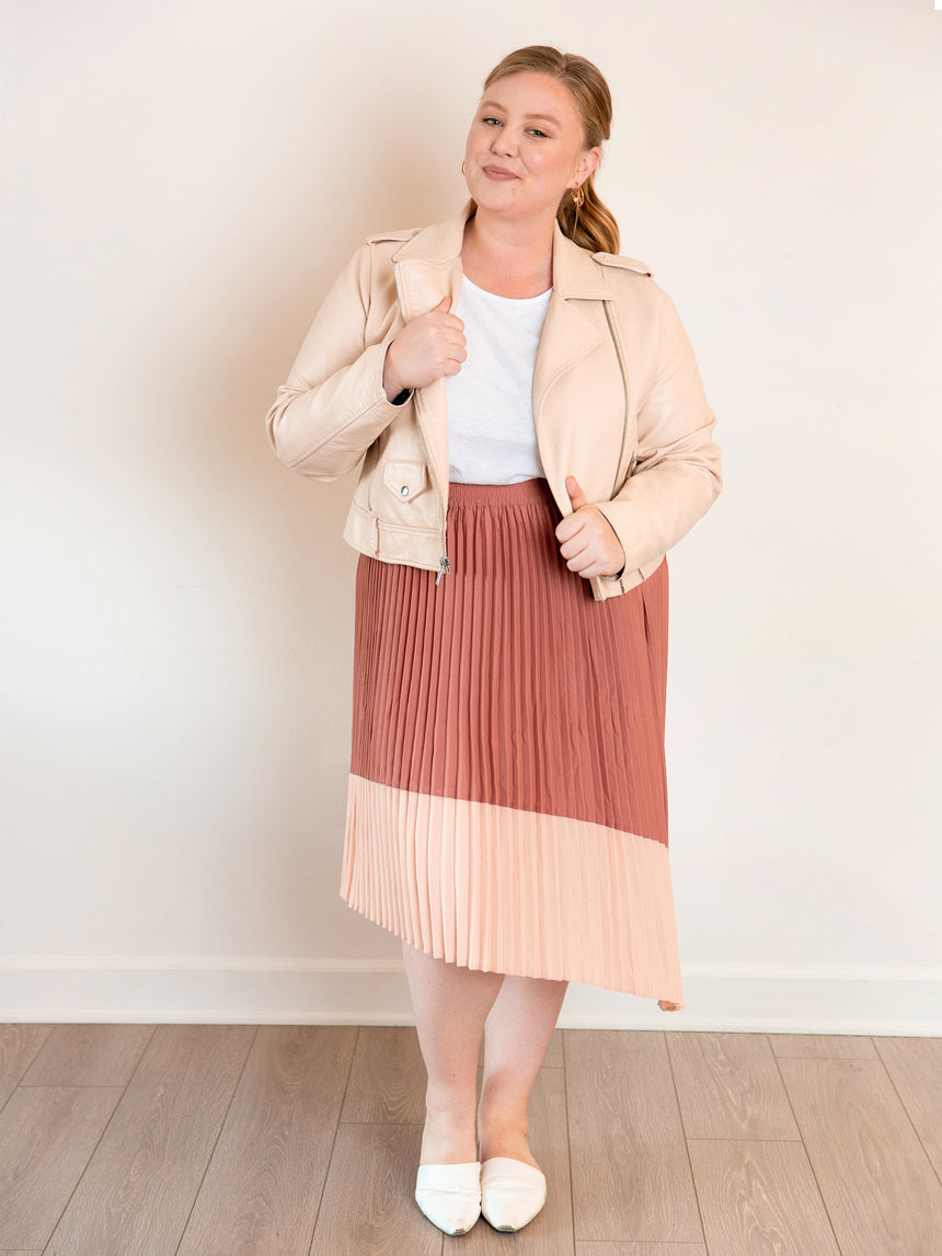 The Pleated Midi Skirt - Ori Plus Size Online Boutique