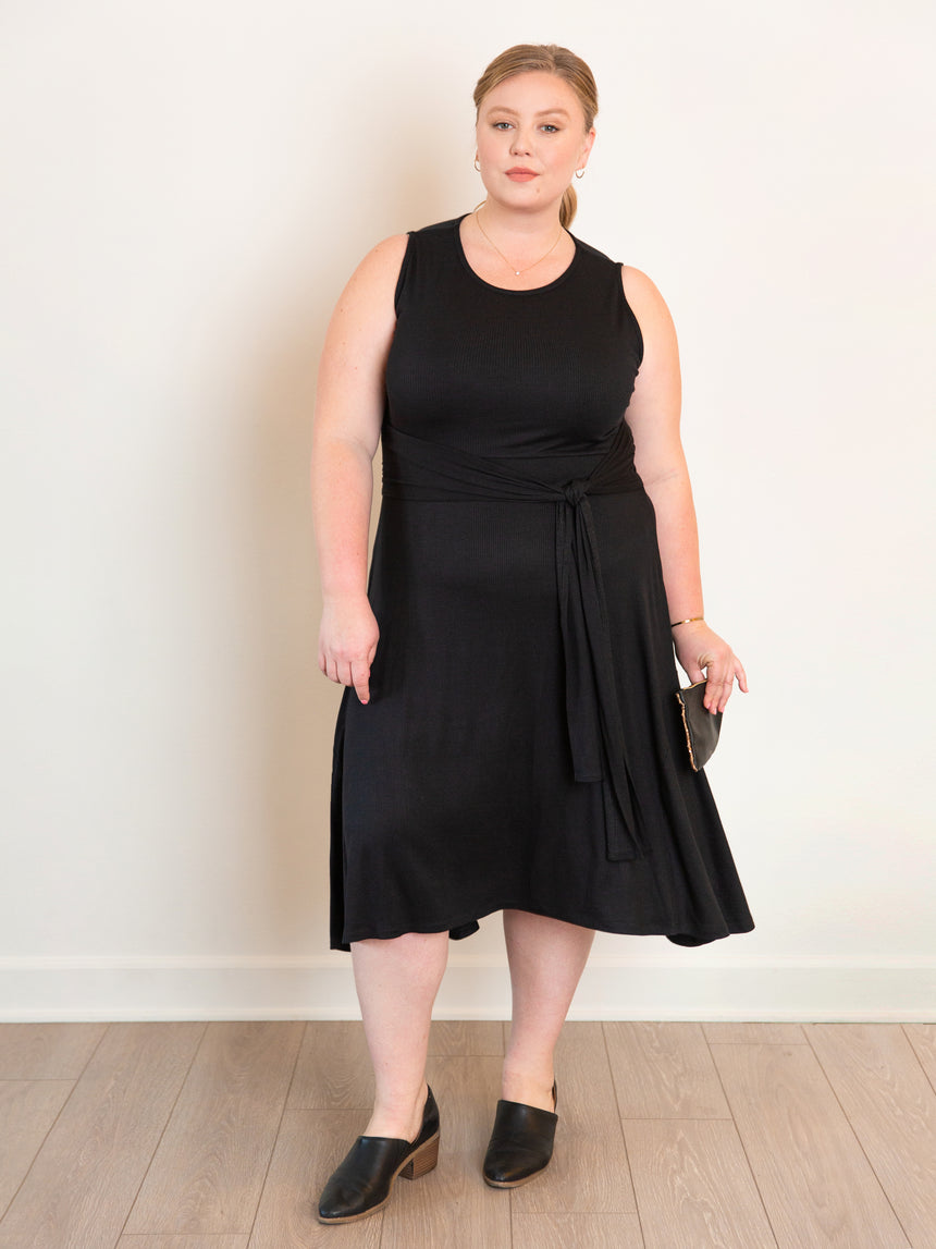 (Sale) The Super Soft Midi Dress - Ori Plus Size Online Boutique