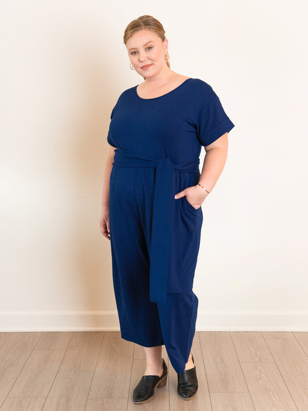 (Sale) The French Terry Jumpsuit - Ori Plus Size Online Boutique