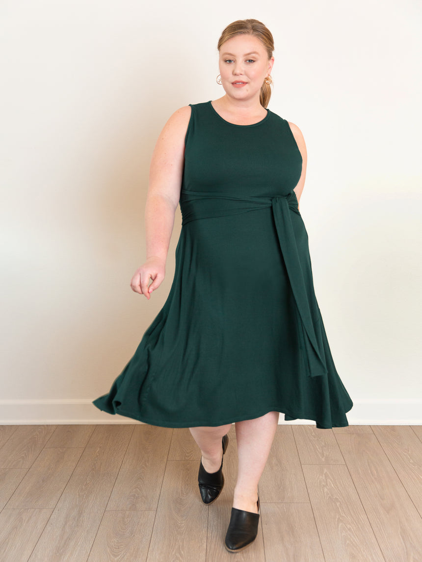 (Final Sale) The Super Soft Midi Dress - Ori Plus Size Online Boutique