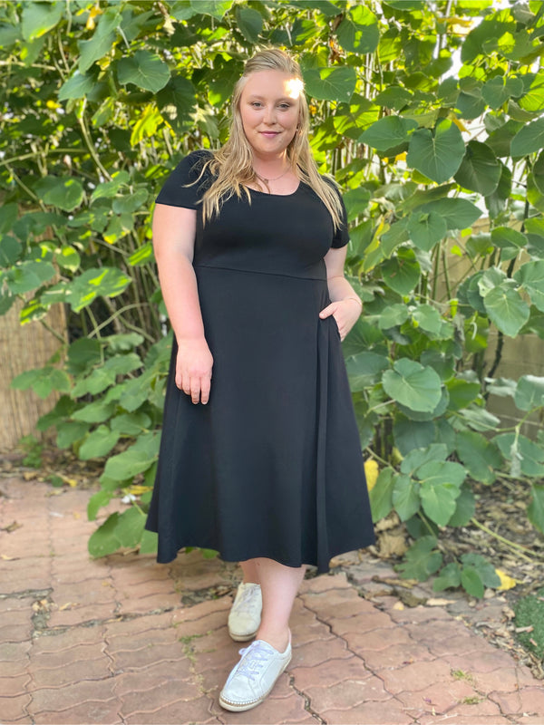 The Signature French Terry Dress, Midi Length - Ori Plus Size Online Boutique