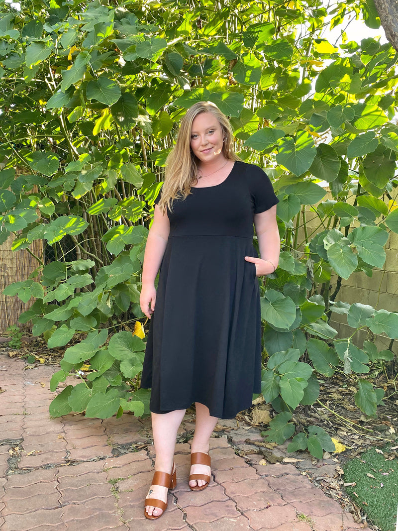 The Signature French Terry Midi Dress - Ori Plus Size Online Boutique