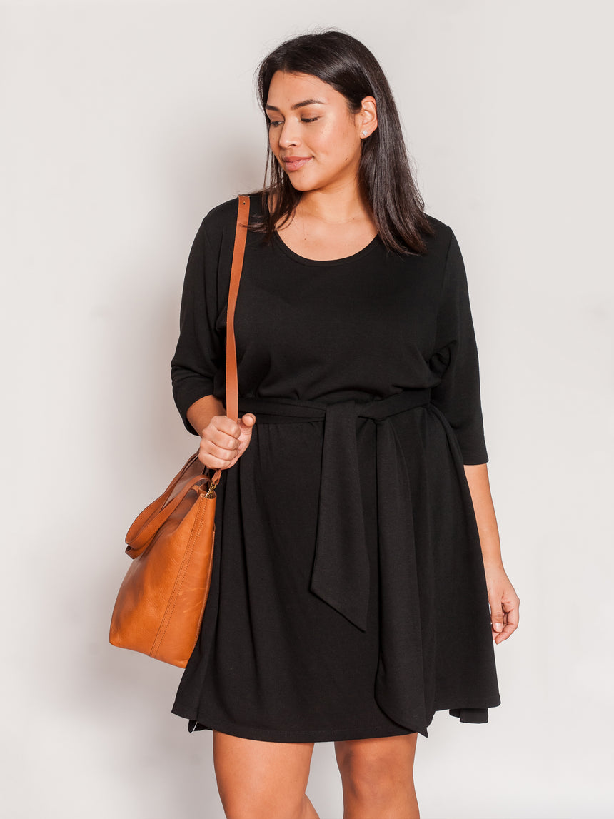 (Final Sale) The Original French Terry Dress - Ori Plus Size Online Boutique