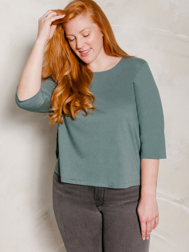 (Sale) The Super Soft Micro-Crop Tee - Ori Plus Size Online Boutique