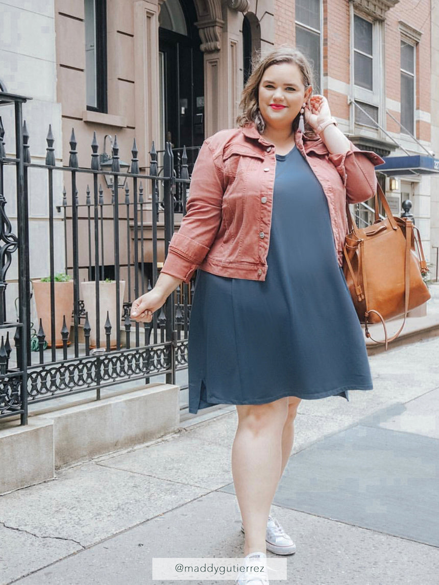 (Sale) The Signature French Terry Dress - Ori Plus Size Online Boutique