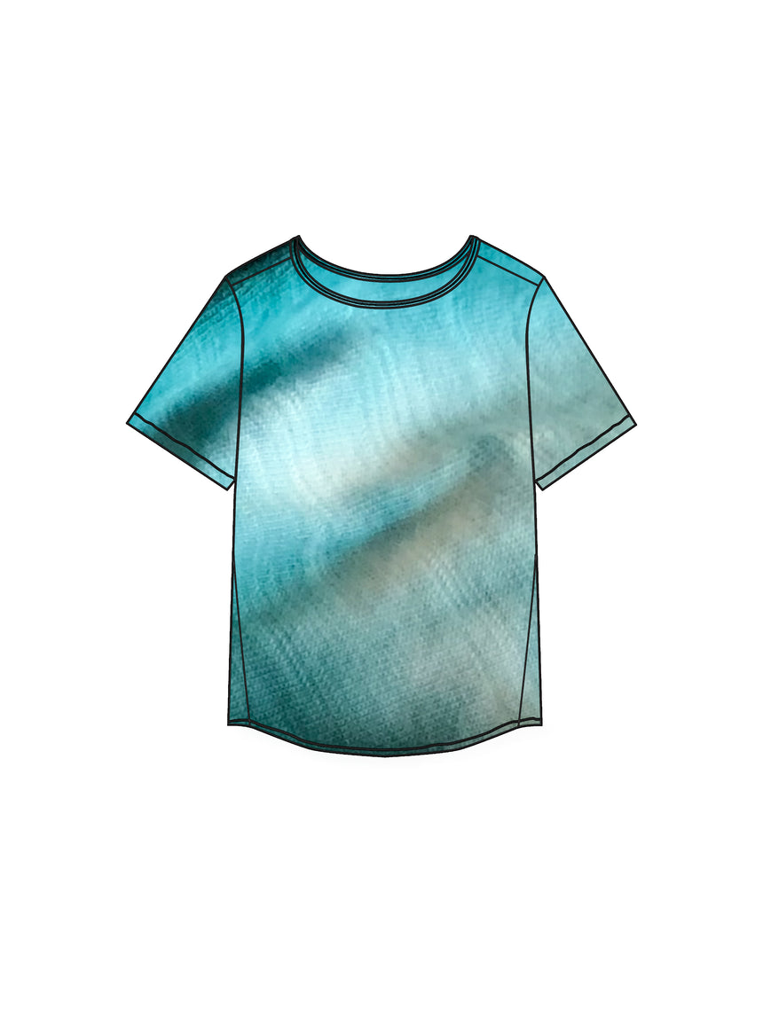 The Tie Dye CloudSoft Tee - Ori Plus Size Online Boutique