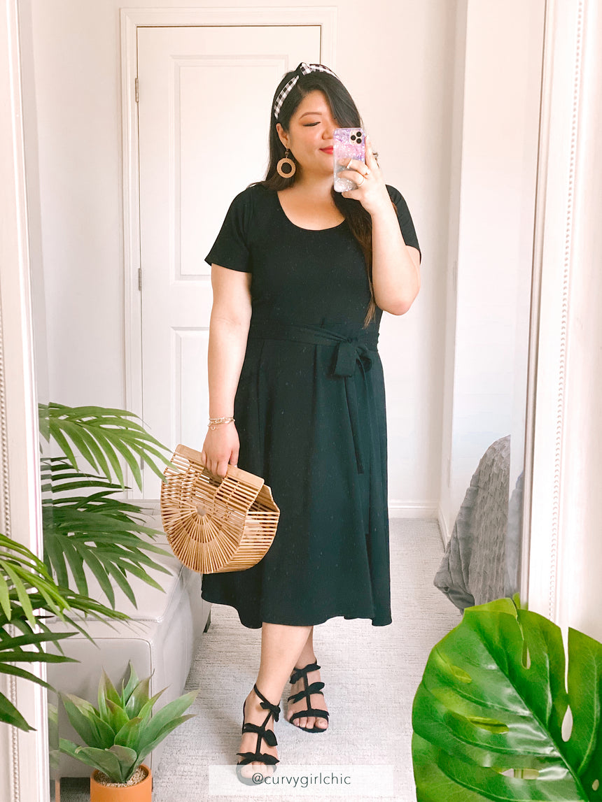 (Sale) The French Terry Midi Dress - Ori Plus Size Online Boutique