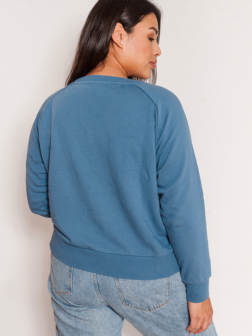 (Sale) The Embroidered Sweatshirt - Ori Plus Size Online Boutique