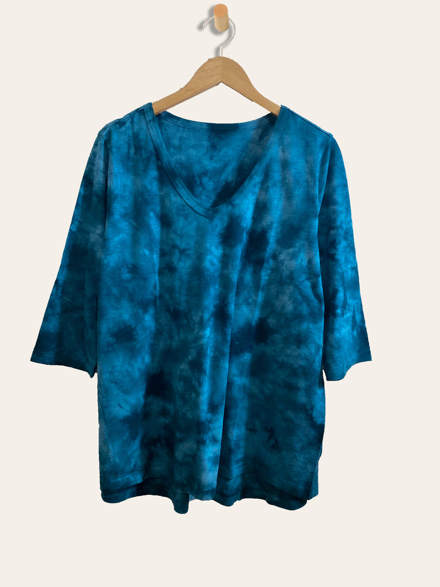 The CloudSoft Tie Dye Tee, Three-Quarter Sleeve - Ori