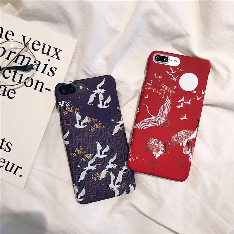 Japanese Cherry blossom crane Phone Cases