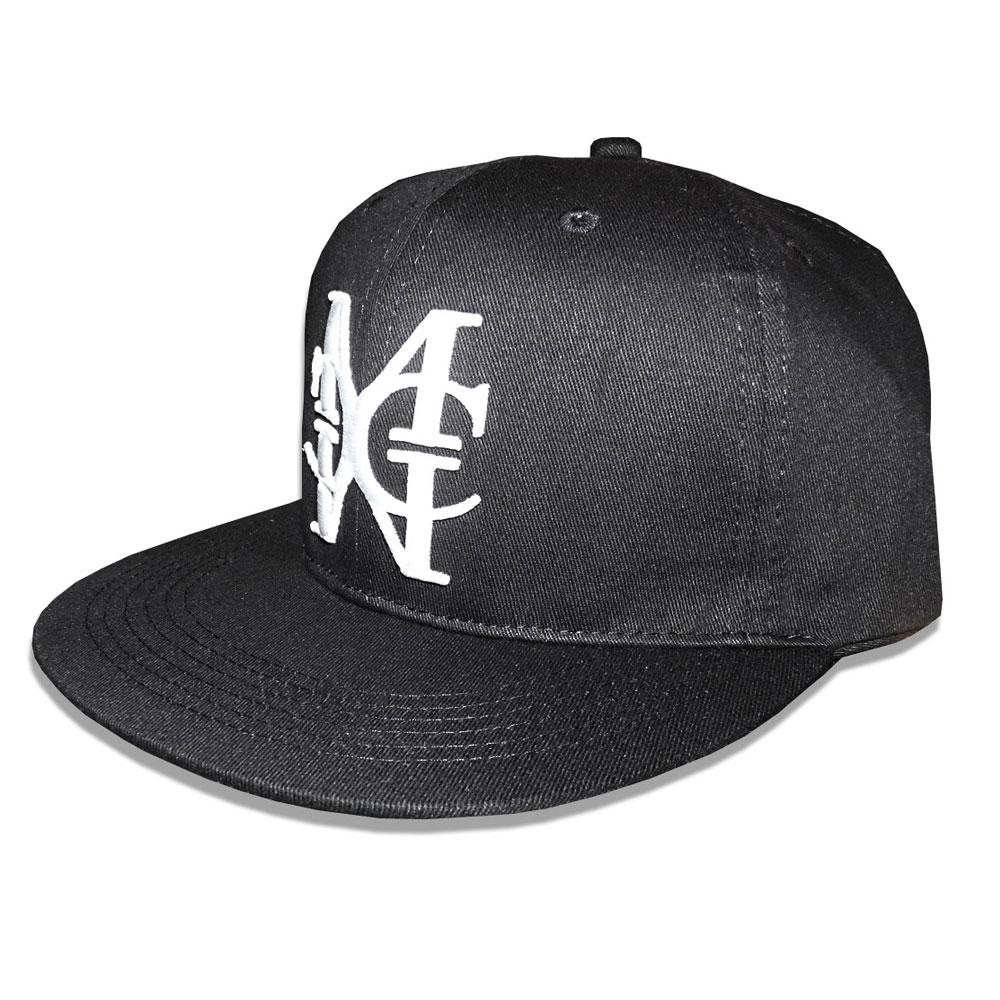Black/White snapback Hat