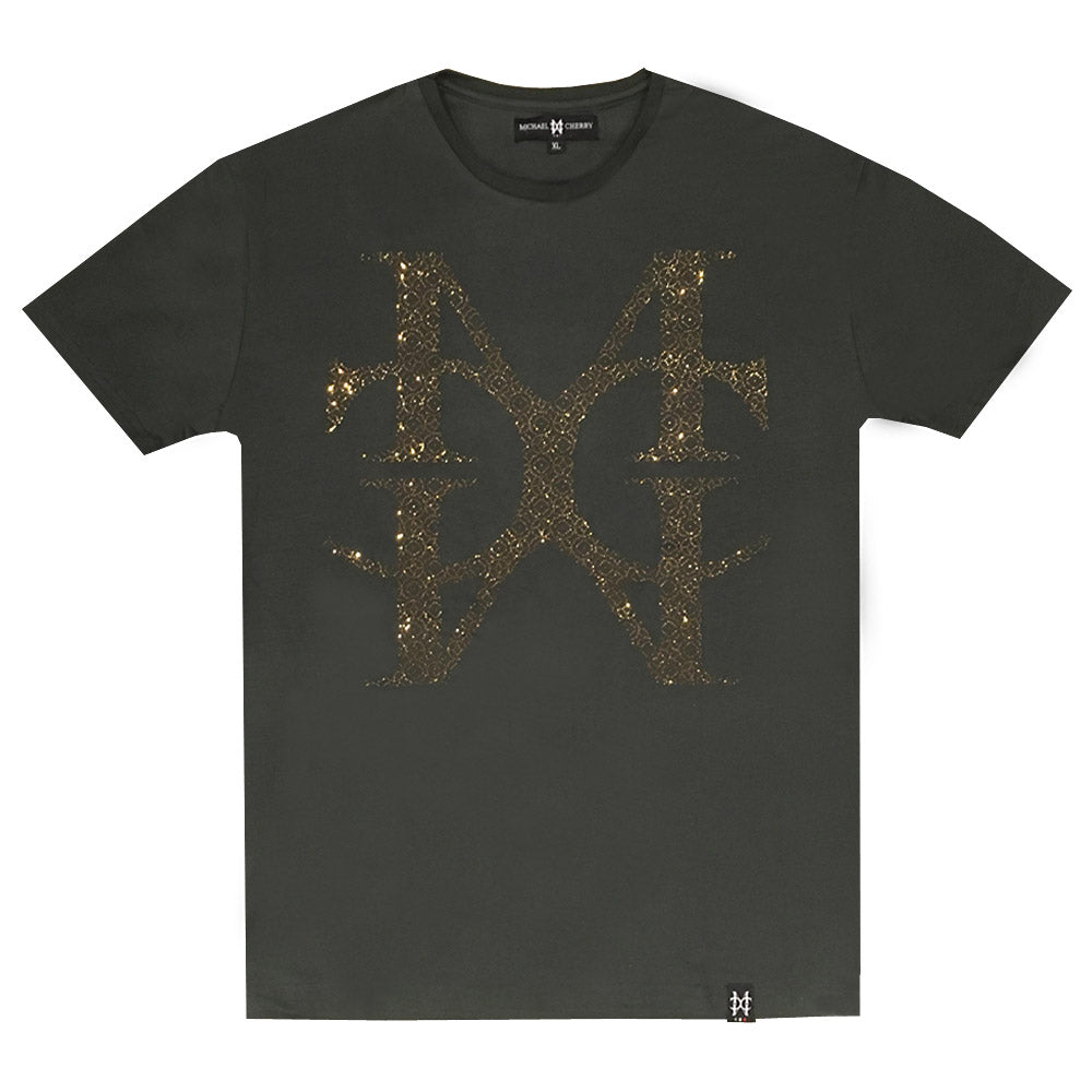 MC Jumbo Crystal Logo Gucci Green tee (Website Only)