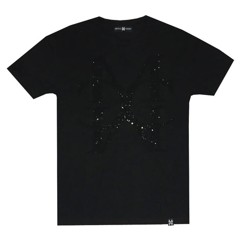 MC Jumbo Crystal Logo Black tee