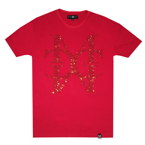 MC Jumbo Crystal Logo Red tee