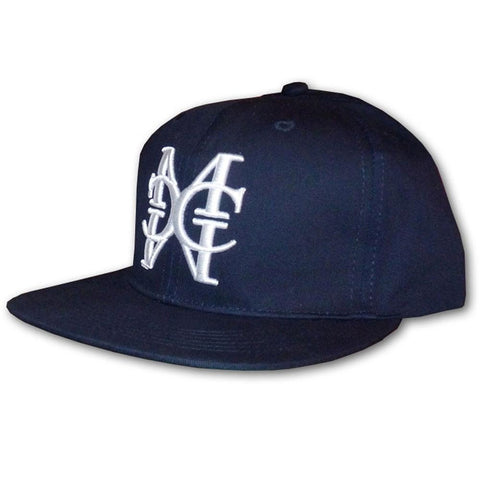 Navy/White snapback Hat