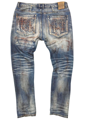 Denim Painted Jean (Only size 40 left)