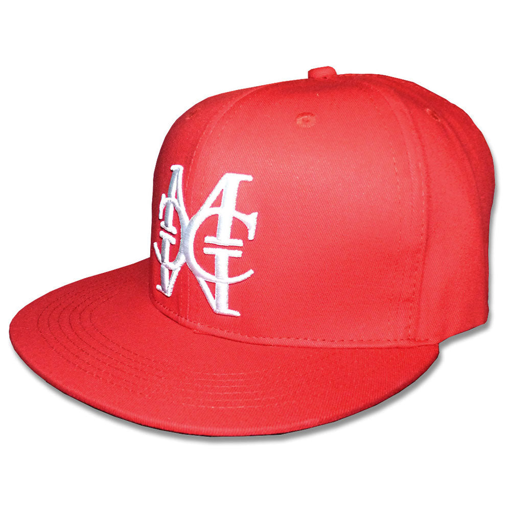 Red/White snapback Hat