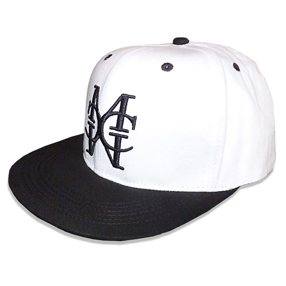 White/Black snapback Hat