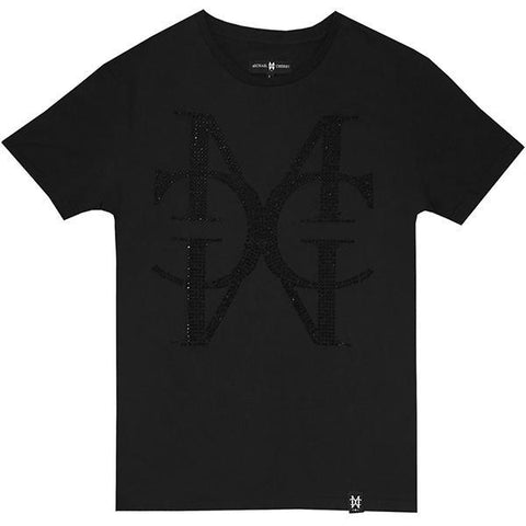 Signature Crystal MC black tee