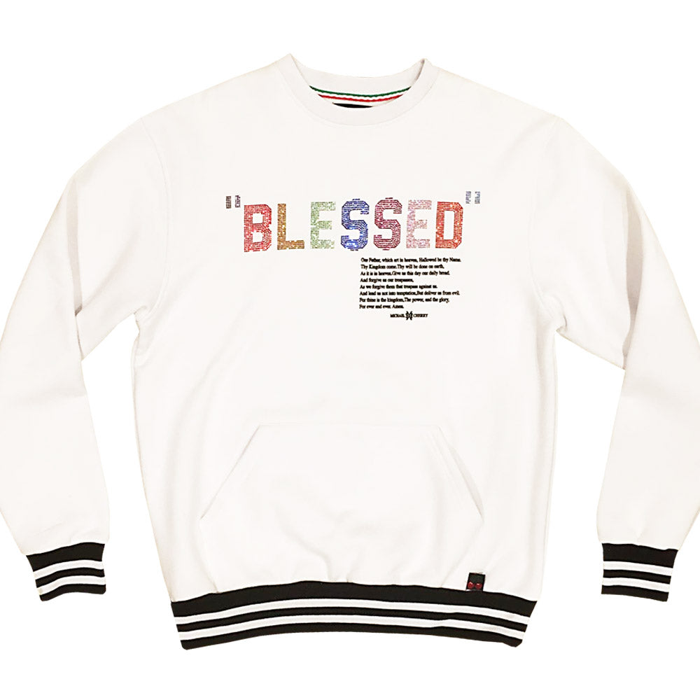 Blessed Sweatshirt white (4XL left)