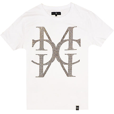 Signature Crystal MC twhite tee