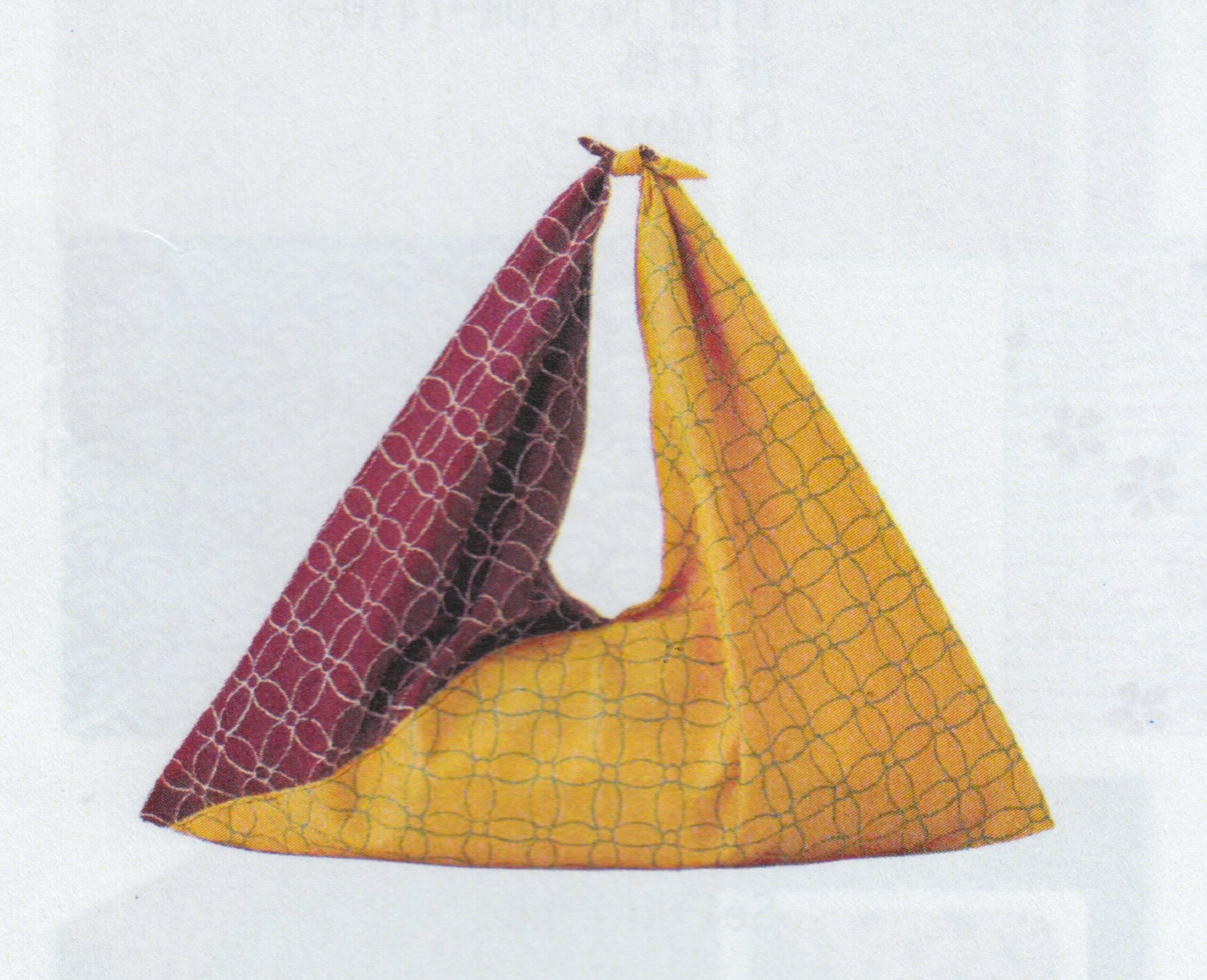 Triangle bag purple/yellow