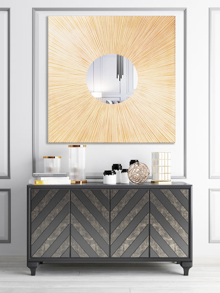 """Fiammata"" Accent Wall Mirror"