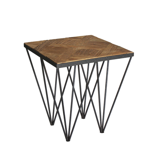 """Punta Reclaimed"" Elm Wood Side/End Table"