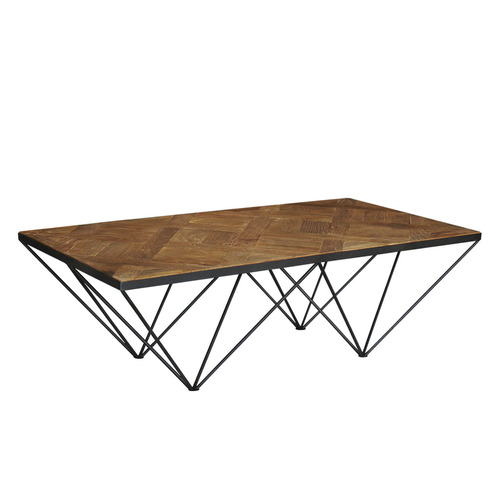 """Punta"" Reclaimed Elm Wood Coffee Table"