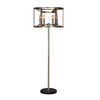 """Reticolo"" 6-Bulb Candle-Style Drum Floor Lamp"