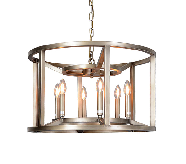 """Reticolo"" 6-Bulb Drum Chandelier"
