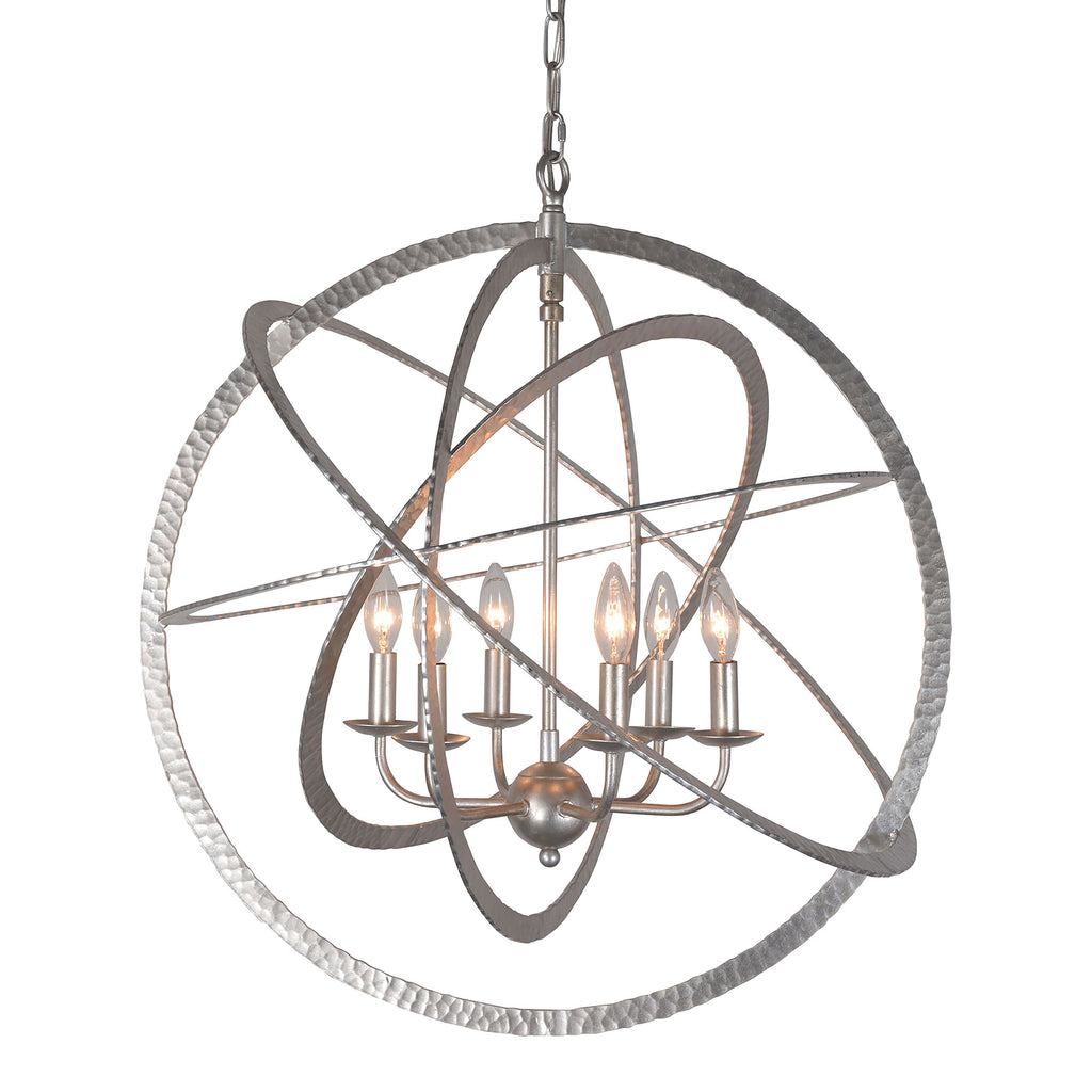 """Atomo"" Candle-Style Globe Chandelier"