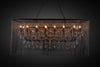 """Cascata III"" 21-Bulb Candle-Style Chandelier with Crystals"
