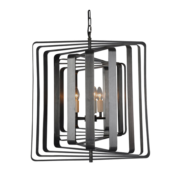 """Torcia II"" 5-Bulb Candle-Syle Chandelier (Black)"