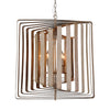 """Torcia II"" 6-Light Candle-Syle Chandelier (Wood White)"