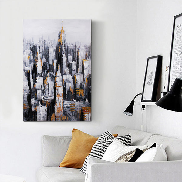 """Golden City"" Oil Painting"