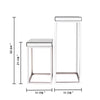 """Argento"" Mirrored Square Side/End Tables (Set of 2)"